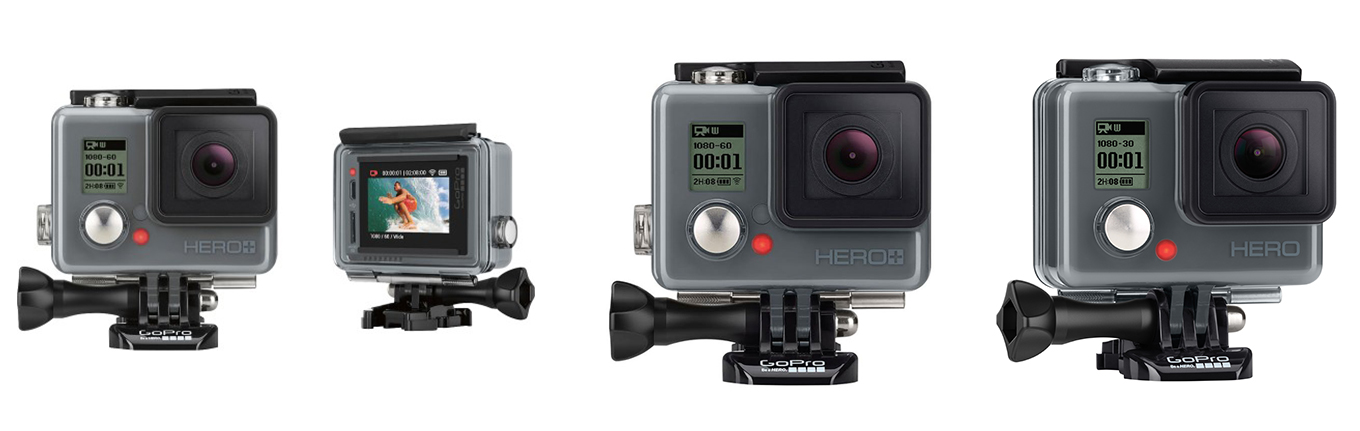 GoPro Hero+ LCD vs. GoPro Hero+ vs. GoPro Hero