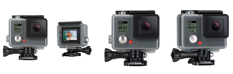 GoPro Hero+ LCD vs. GoPro Hero+ vs. GoPro Hero
