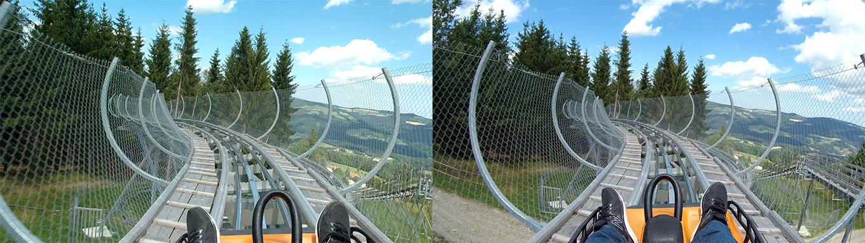 Hawkeyes Firefly 8S 90° lens vs Firefly 8S 170° lens (Frame grab)