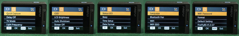 Hawkeye Firefly 8S - Device Settings
