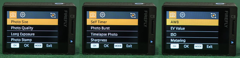 Hawkeye Firefly 8S - Photo Settings