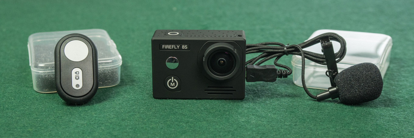 Hawkeyes Firefly 8S with remote control and external mic