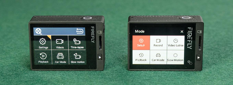 Firefly 8S vs Firefly 8SE - menu
