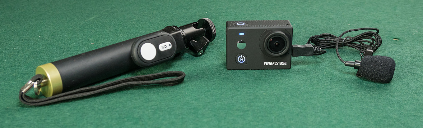 Hawkeye Firefly 8SE - external microphone / remote controller