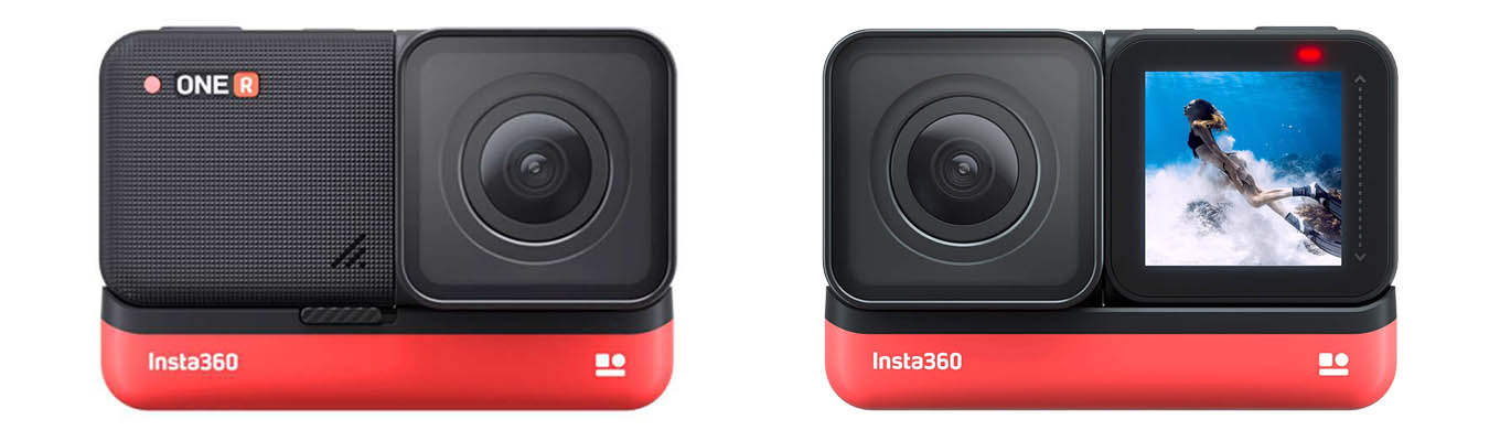"Insta360 ONE R - ""4K wide angle"" module - screen can be flipped"