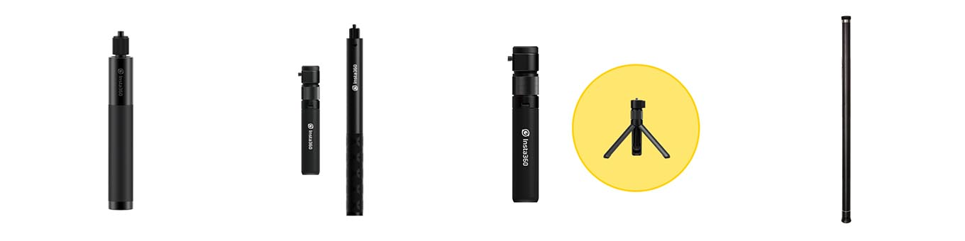 Insta360 ONE R invisible selfie stick - bullet time bundle - extended edition