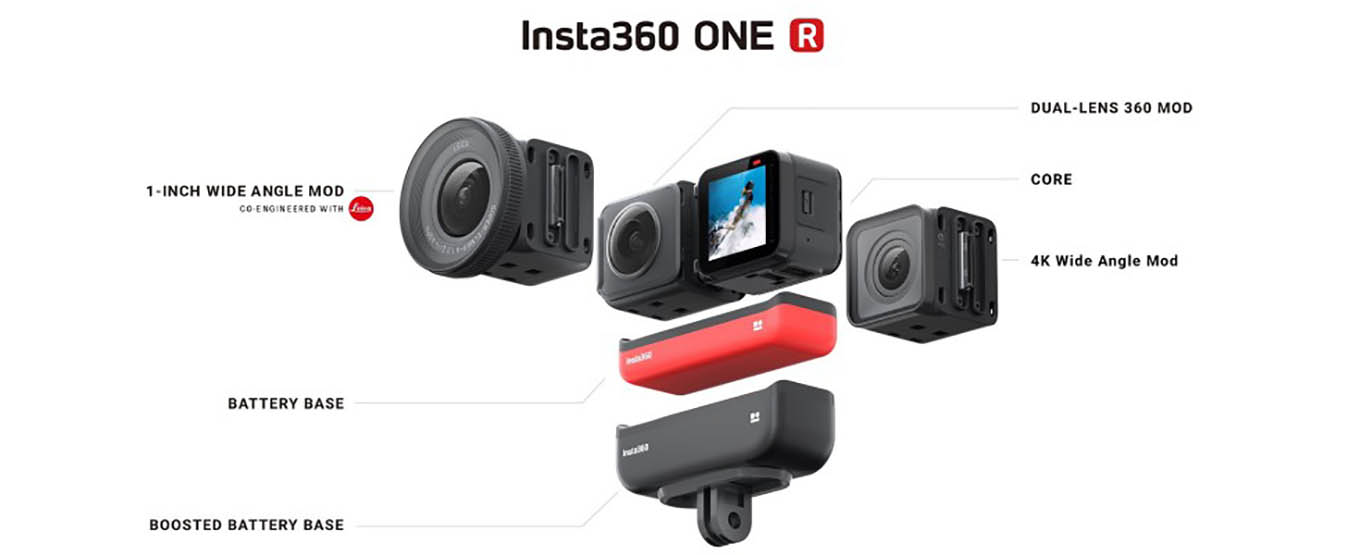 Insta360 ONE R vs GoPro Max vs Insta360 ONE X vs GoPro Hero8 black vs DJI OSMO Action vs Sony RX0 II - Comparison