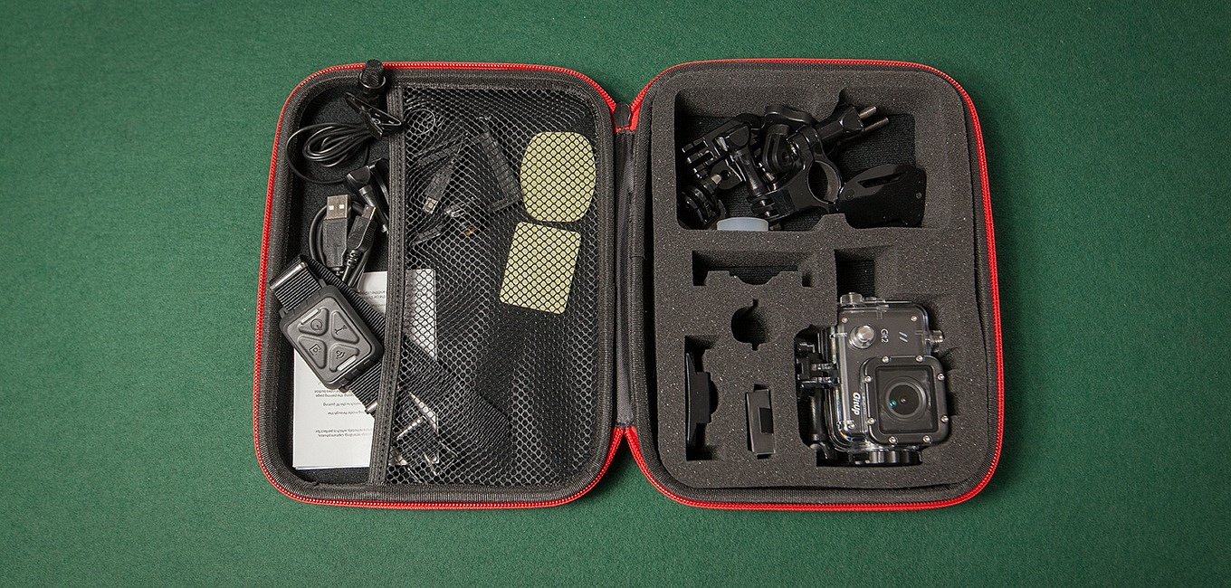 KingMa case with Git2 camera and accessories