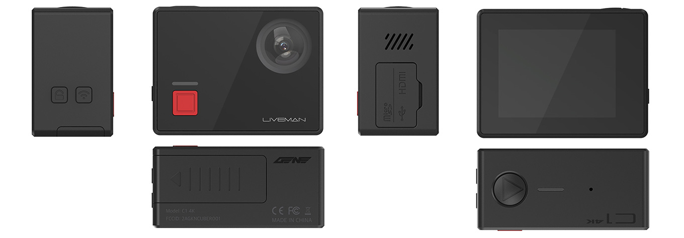 Lesports Liveman C1 - all sides, buttons & ports