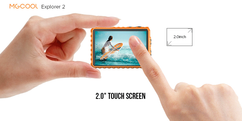 "MGCOOL - Explorer 2 - 2"" touch screen"