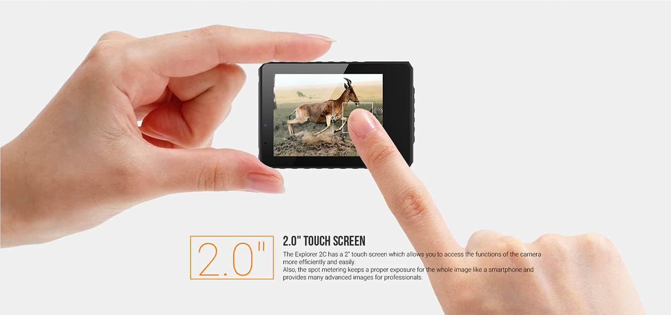 "MGCOOL Explorer 2C - 2"" touch screen"