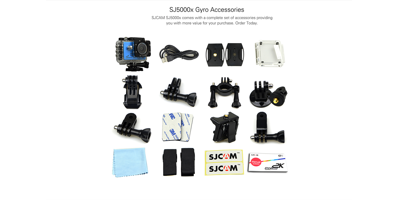 SJ5000X Elite included Accessories
