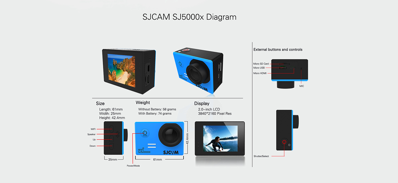 SJ5000X Elite Dimension