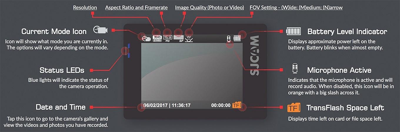 SJCAM SJ7 Star - Home Screen