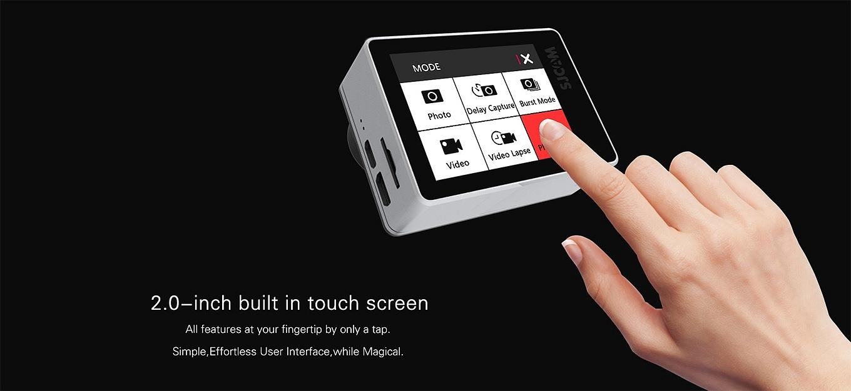"SJCAM SJ7 Star - 2"" touch TFT display"