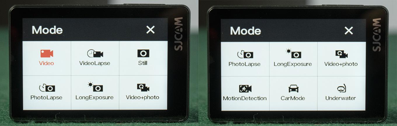 SJCAM SJ8 Air - Modes