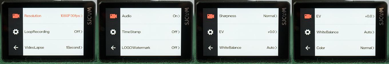 SJCAM SJ8 Air - Video Settings