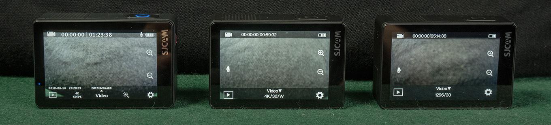 Homescreen comparison of SJ8 Pro - SJ8 Plus - SJ8 Air