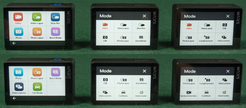 Mode Menu of SJ8 Pro - SJ8 Plus - SJ8 Air
