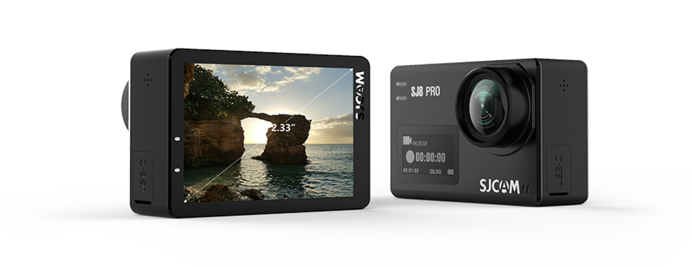 "SJCAM SJ8 Pro & SJ8 Plus - 2,33"" Touchdisplay & 0,96"" Front Display"