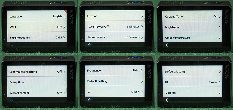 SJCAM SJ8 Pro - Device Settings