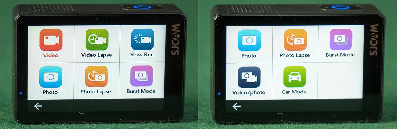 SJCAM SJ8 Pro - available Modes