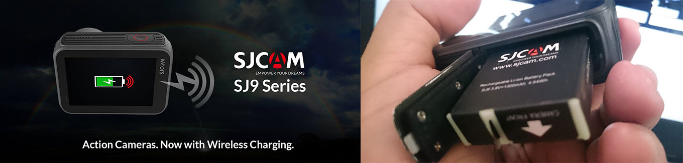 SJCAM SJ9 Strike will feature wireless charging and an exchangeable battery