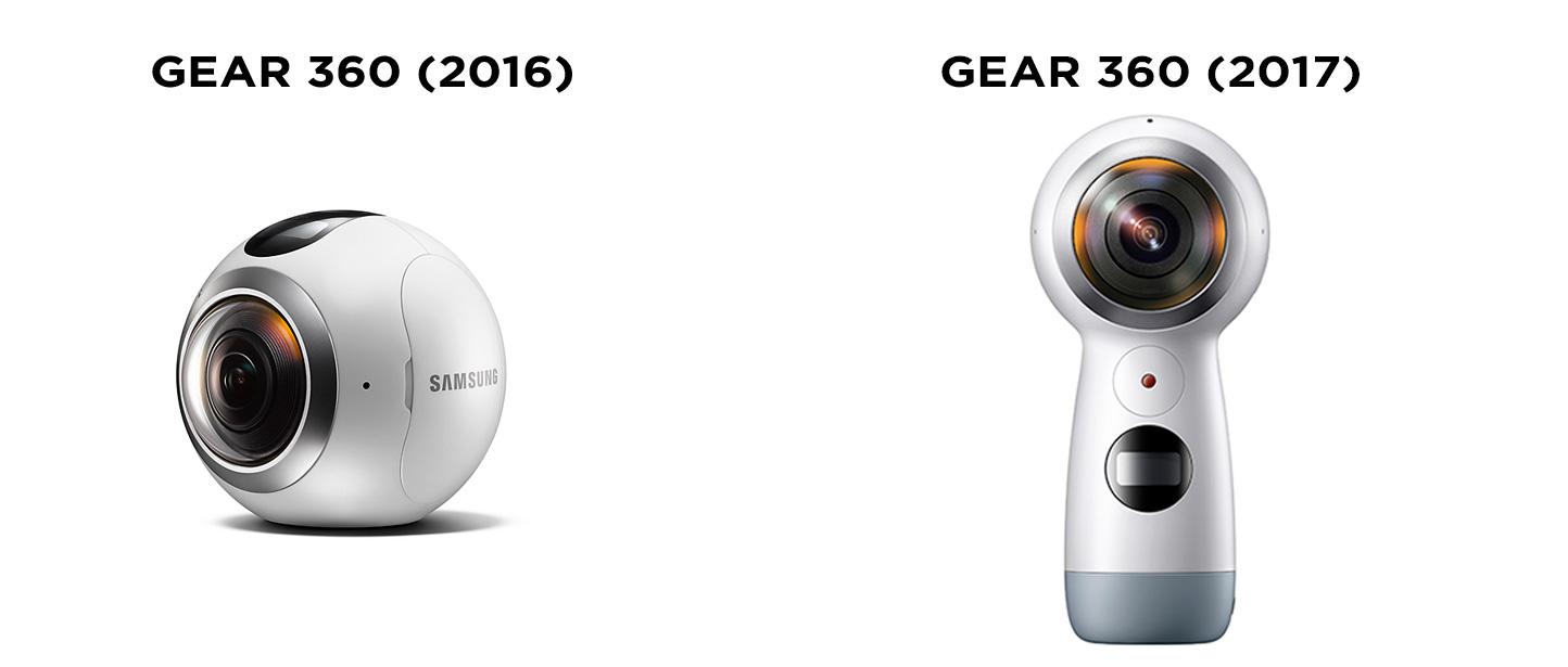Samsung Gear 360 (2016) vs Gear 360 (2017)