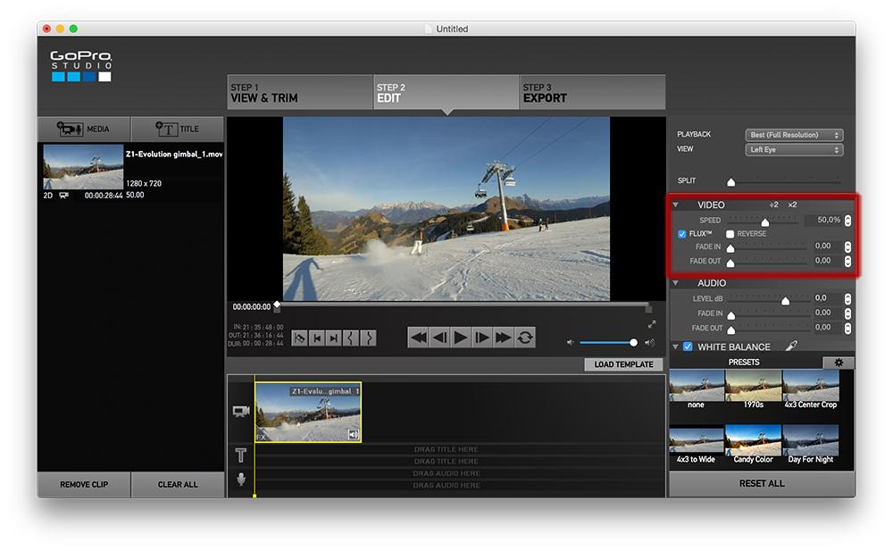 GoPro Studio Slow Motion