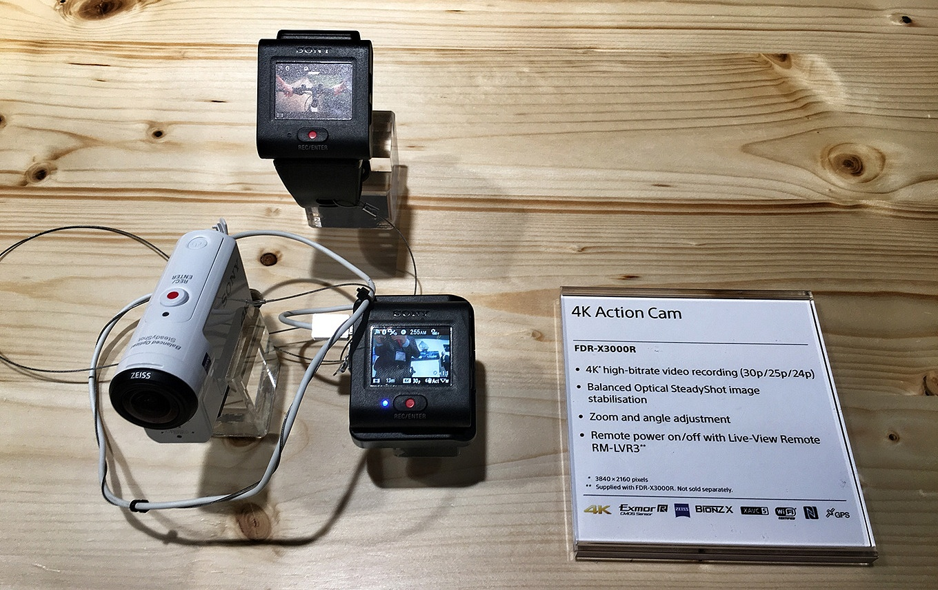 I tried the Sony FDR-X3000 at IFA in Berlin