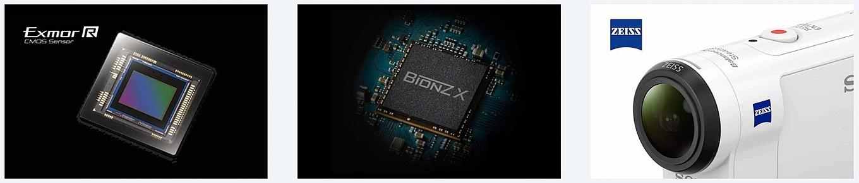 Sony FDR-X3000R - Sensor - Chip - Lens