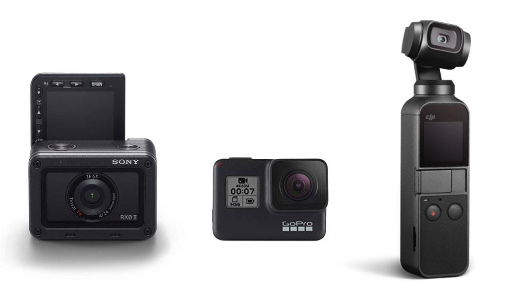 Sony RX0 II vs GoPro Hero7 black vs DJI Osmo Pocket - vlogging camera