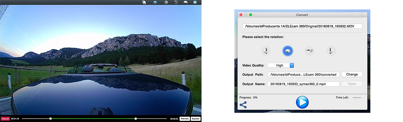 Symax360 Player - Video Export