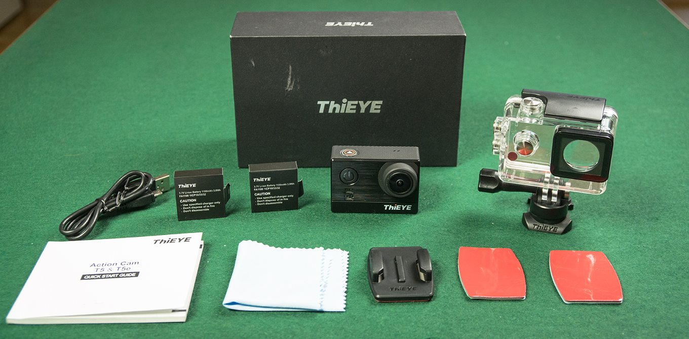 ThiEYE T5 - Included Accessories