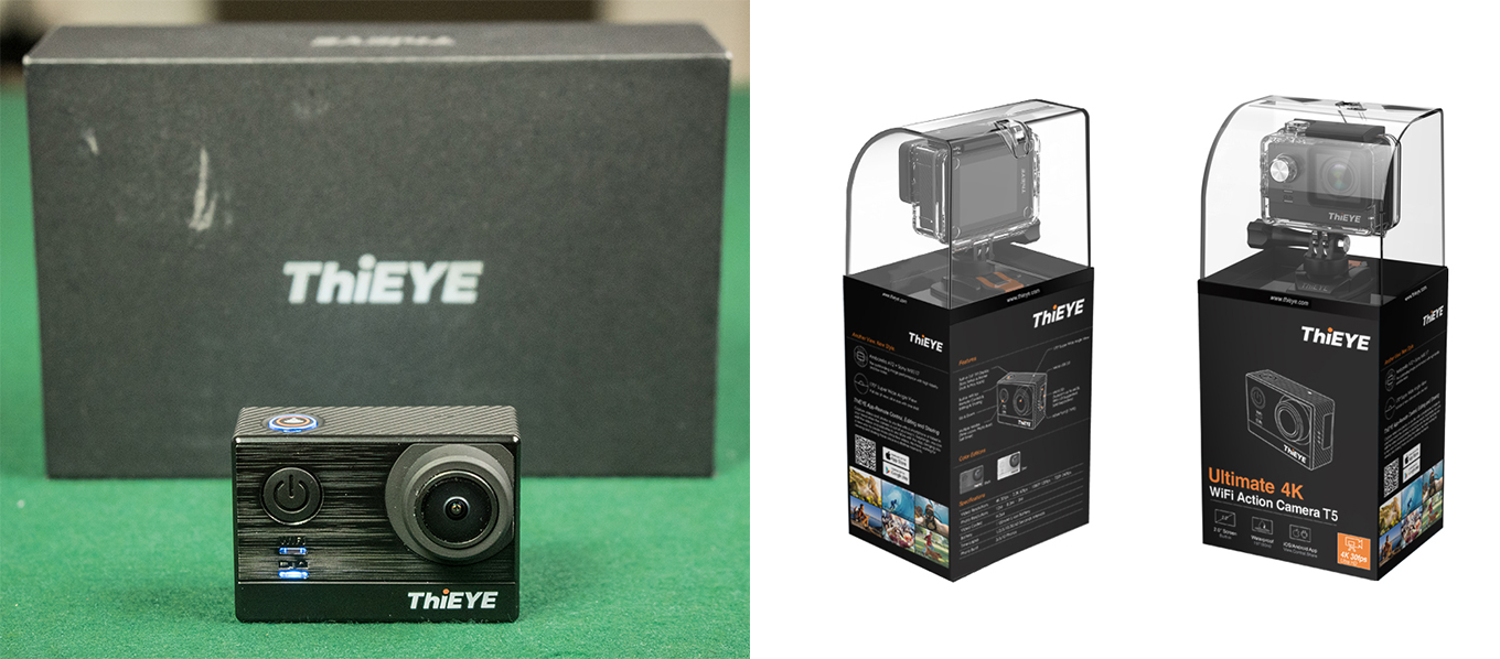 ThiEYE T5e vs ThiEYE T5 - Packaging