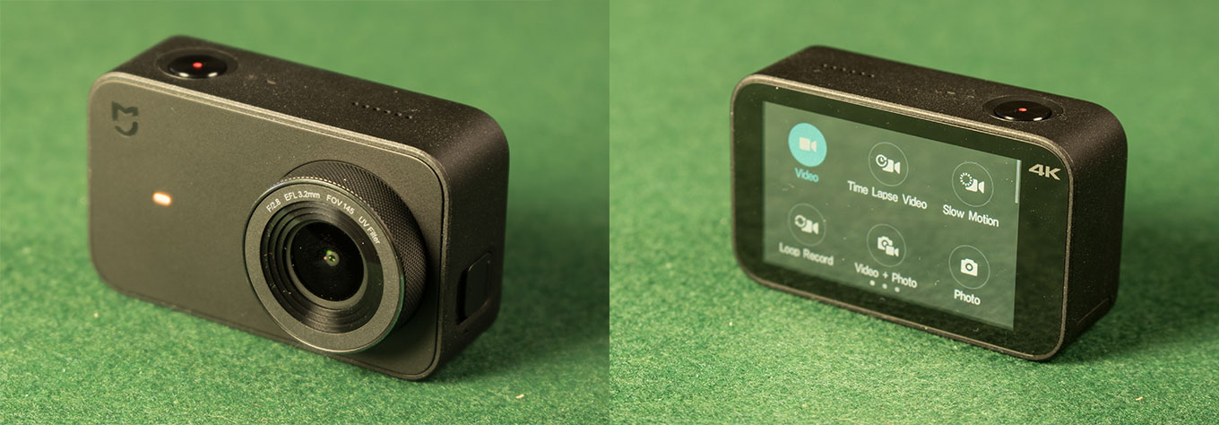 Xiaomi 4K Mijia Action Camera - Front- and Backside