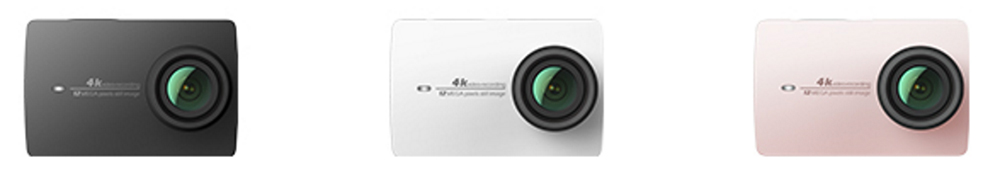 Yi Action Camera 2 will be available in black, white & rose