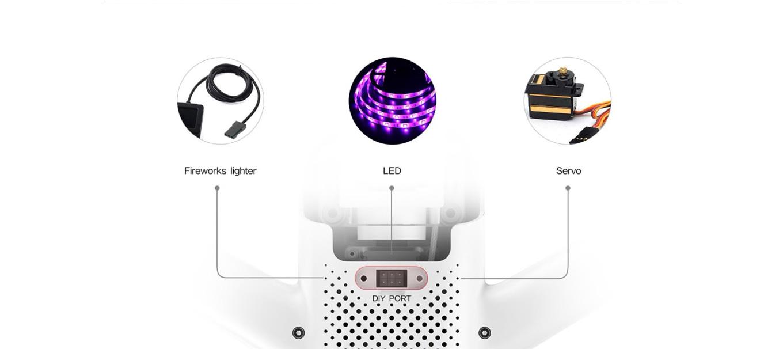 Xiaomi FIMI A3 - DIY port for Fireworks, LEDs or Servos