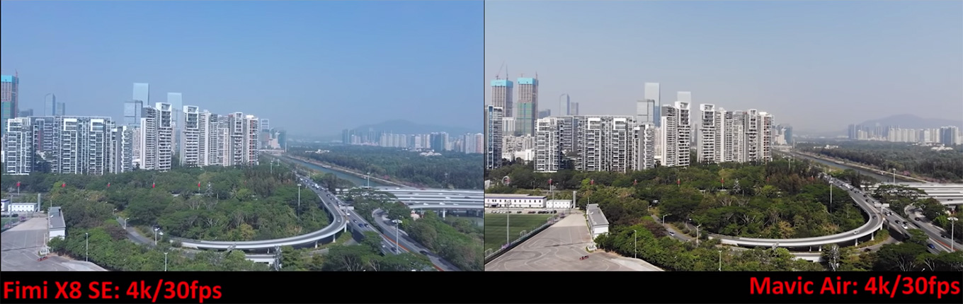 Xiaomi FIMI X8 SE vs DJI Mavic Air - Frame Grab 4K 30fps (by Sami Luo)