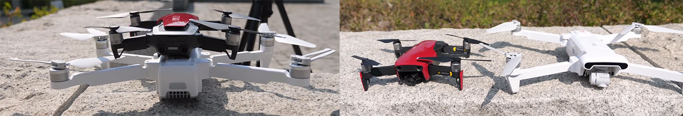 Xiaomi FIMI X8 SE vs DJI Mavic Air - Size comparison (by Sami Luo)