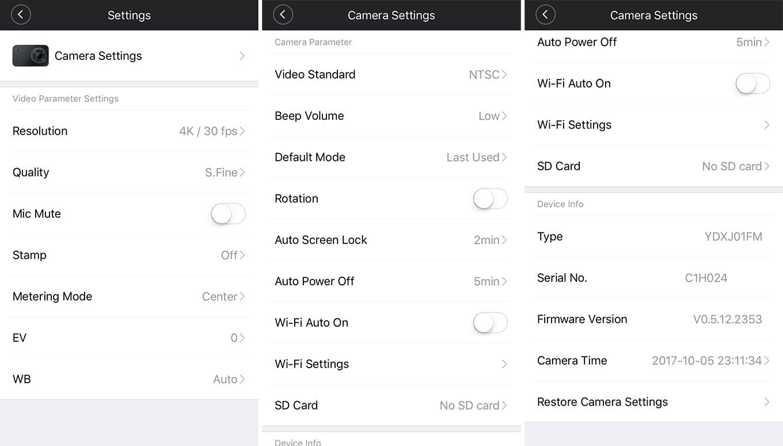 Xiaomi Mijia Action Camera App
