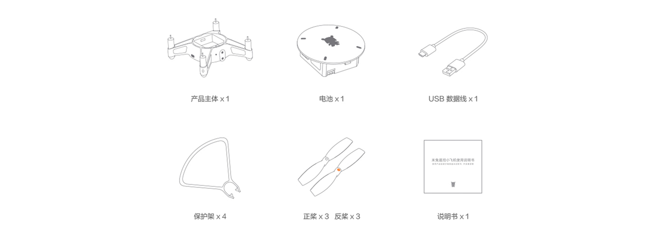 Xiaomu Mitu Mini Drone - Packaging
