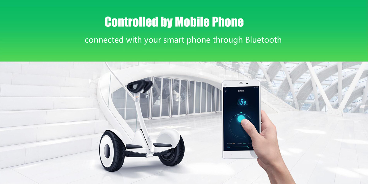 Xiaomi Scooter wireless phone remote through bluetooth