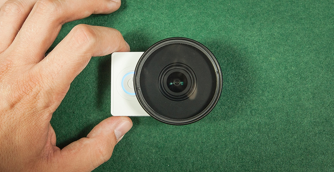 Xiaomi Yi with 52mm filter adapter & ND Filter
