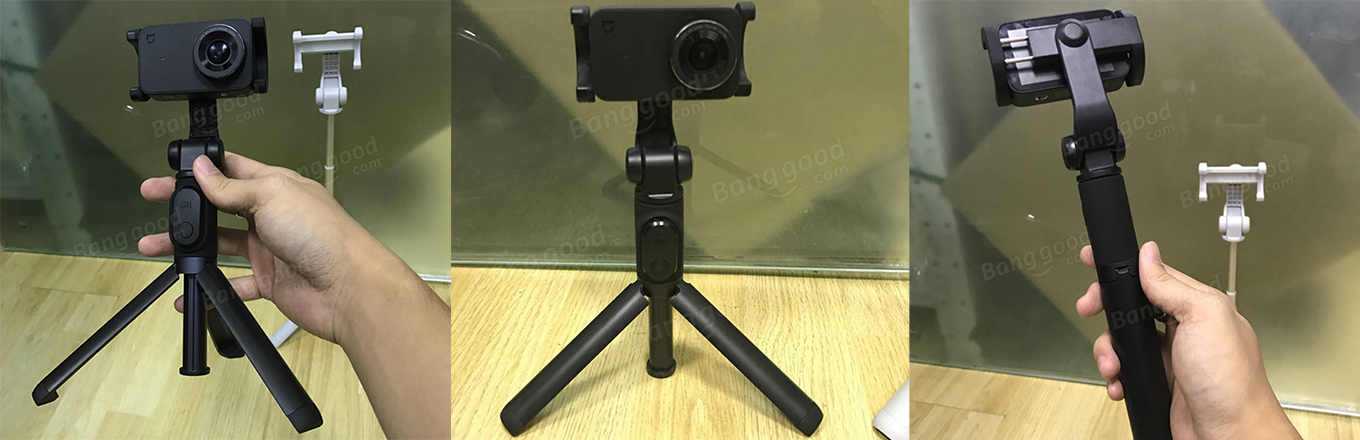 Xiaomi Smartphone Selfie Stick used with Xiaomi Mijia Action Camera