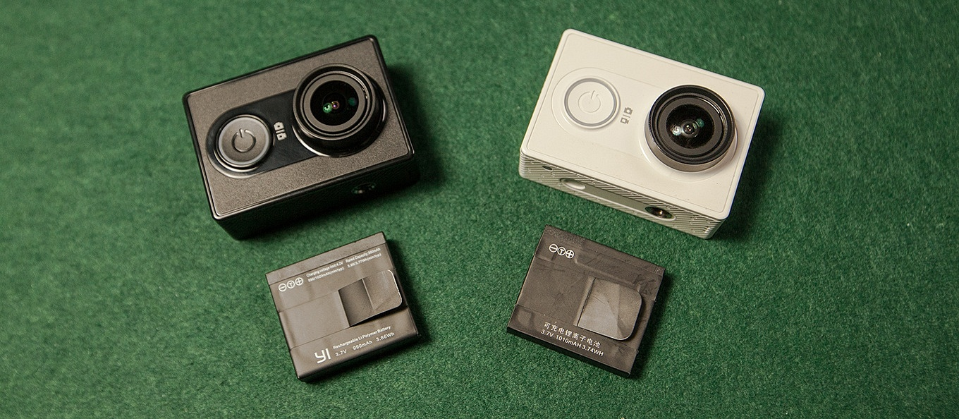 Yi Action Camera International Version vs Chinese Version - Battery