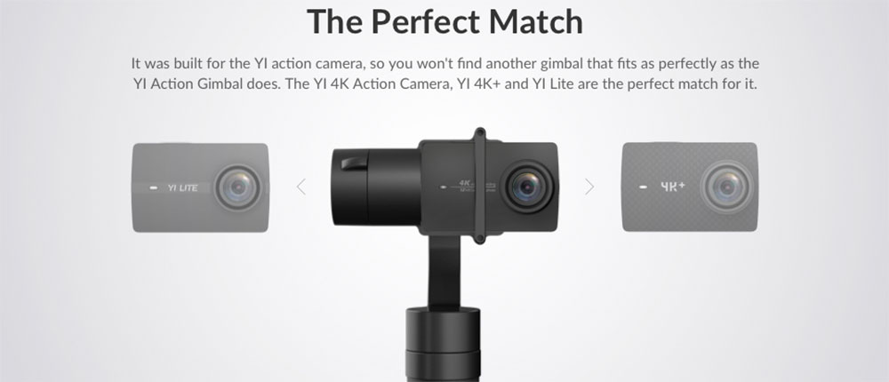 YI Action Gimbal - Compatible with YI 4K+, YI 4K & YI Lite Action Camera