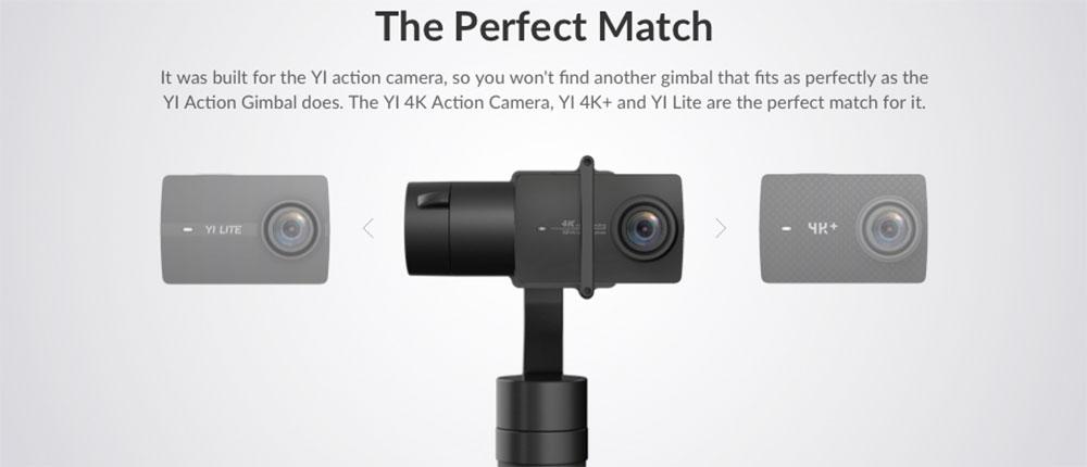 YI Action Gimbal - Compatible with YI 4K+, YI 4K & YI Lite Action Camera