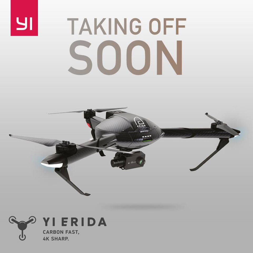 YI Erida Drone - Announcement on Facebook