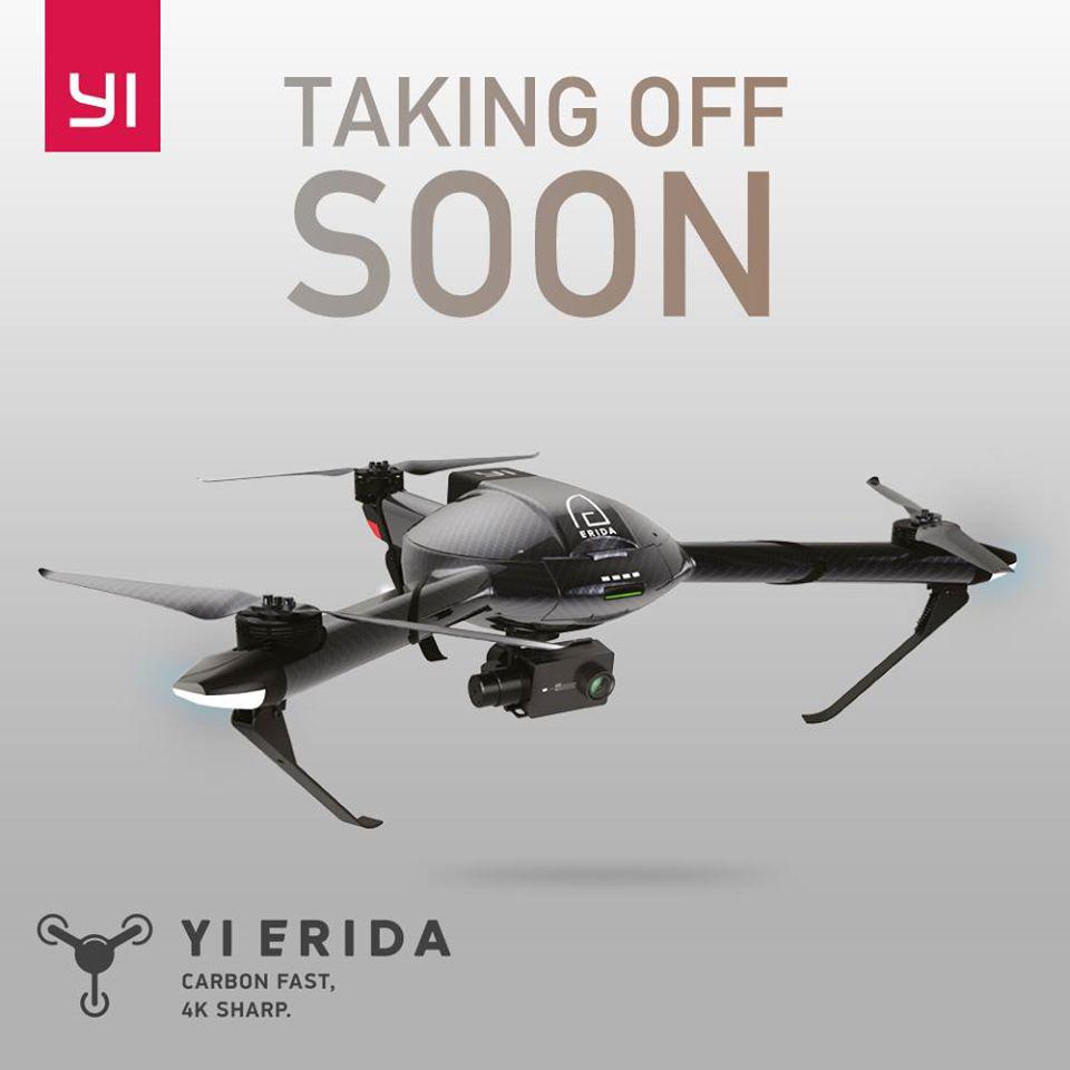 YI Erida Drone - Announcement on Facebook